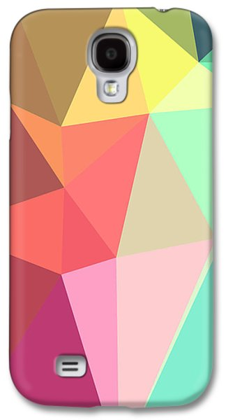 Red Abstract Galaxy S4 Cases - Peace Galaxy S4 Case by Panda Gunda