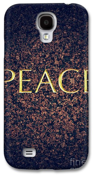 Affirmation Galaxy S4 Cases - Peace Galaxy S4 Case by Tim Gainey