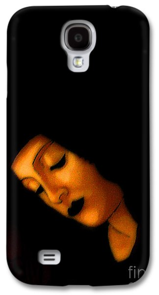 Byzantine Paintings Galaxy S4 Cases - Peaceful Black Madonna Galaxy S4 Case by Genevieve Esson