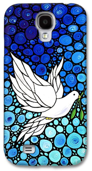 Nature Abstract Galaxy S4 Cases - Peaceful Journey - White Dove Peace Art Galaxy S4 Case by Sharon Cummings