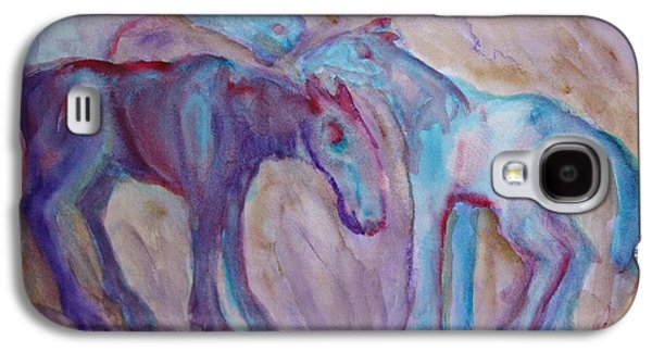 Component Paintings Galaxy S4 Cases - Peaceful night  Galaxy S4 Case by Hilde Widerberg