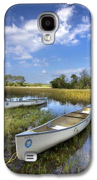 Canoeing Galaxy S4 Cases - Peaceful Prairie Galaxy S4 Case by Debra and Dave Vanderlaan