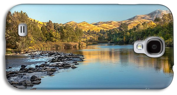 Haybale Galaxy S4 Cases - Peaceful River Galaxy S4 Case by Robert Bales