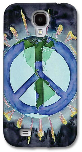 People Tapestries - Textiles Galaxy S4 Cases - Peaceful Salutations Galaxy S4 Case by Carolyn Doe