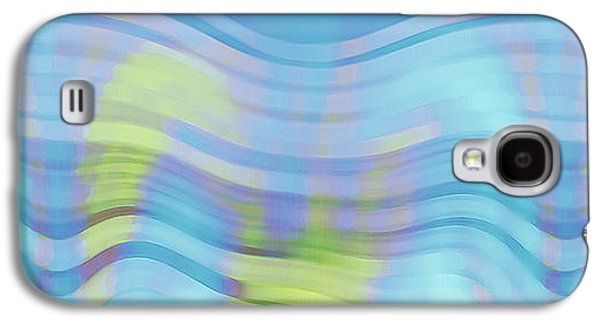 Blue Abstracts Galaxy S4 Cases - Peaceful Waves Galaxy S4 Case by Ben and Raisa Gertsberg