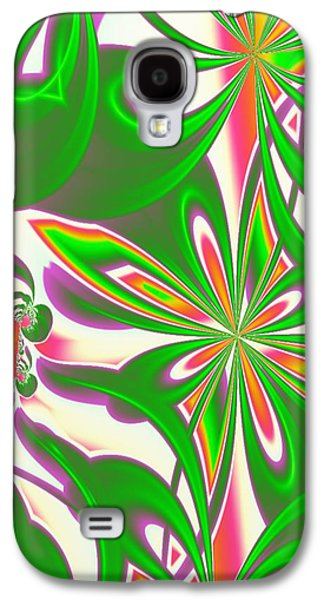 Manley Galaxy S4 Cases - Peach Blossoms - A Fractal Design  Galaxy S4 Case by Gina Lee Manley