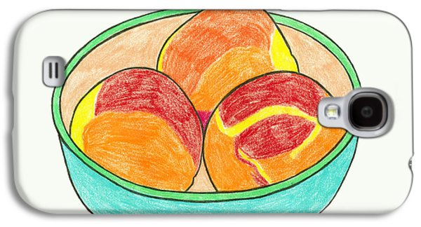 Peaches Drawings Galaxy S4 Cases - Peaches Galaxy S4 Case by Liz Hoenstine