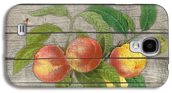 Locally Grown Galaxy S4 Cases - Peaches-JP2676 Galaxy S4 Case by Jean Plout