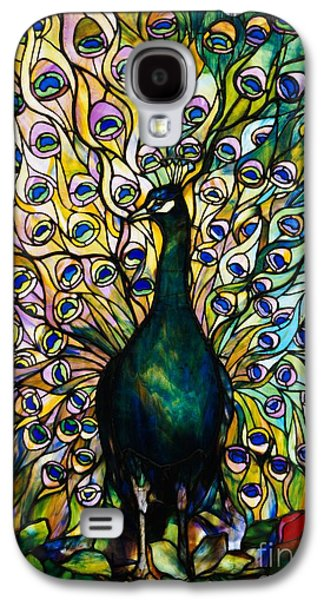 Green Glass Galaxy S4 Cases - Peacock Galaxy S4 Case by American School
