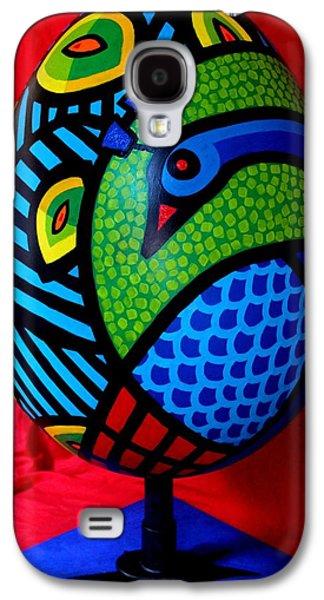 Original Sculptures Galaxy S4 Cases - Peacock Egg II  Galaxy S4 Case by John  Nolan