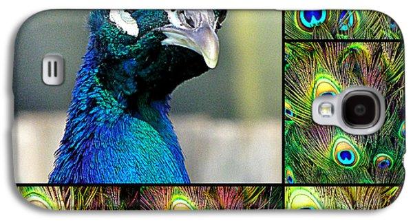 Metal Prints Pyrography Galaxy S4 Cases - Peacock eye Galaxy S4 Case by Girish J