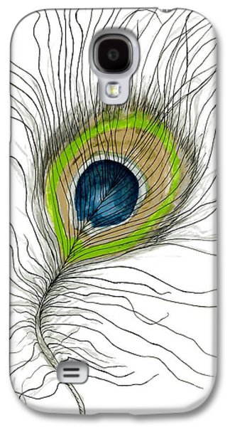 Recently Sold -  - Nature Abstracts Galaxy S4 Cases - Peacock Feather II Galaxy S4 Case by Anne Clark
