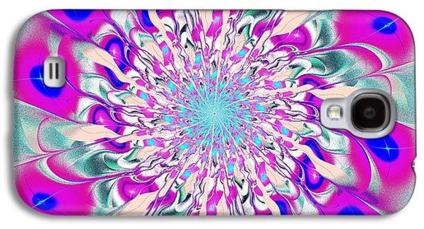 Feather Galaxy S4 Cases - Peacock Flower Galaxy S4 Case by Anastasiya Malakhova