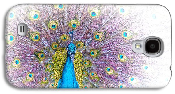 Holly Kempe Galaxy S4 Cases - Peacock Galaxy S4 Case by Holly Kempe