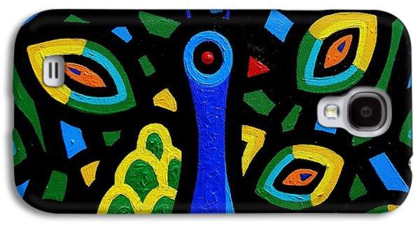 Impressionism Acrylic Prints Galaxy S4 Cases - Peacock III Galaxy S4 Case by John  Nolan