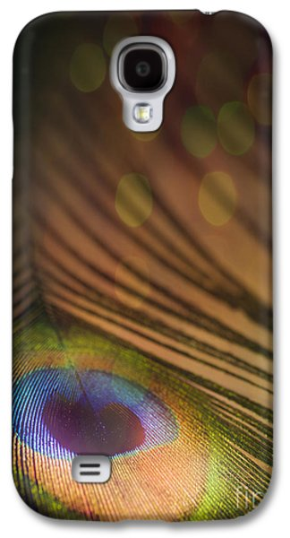 Colorful Abstract Galaxy S4 Cases - Peacock Party Galaxy S4 Case by Jan Bickerton