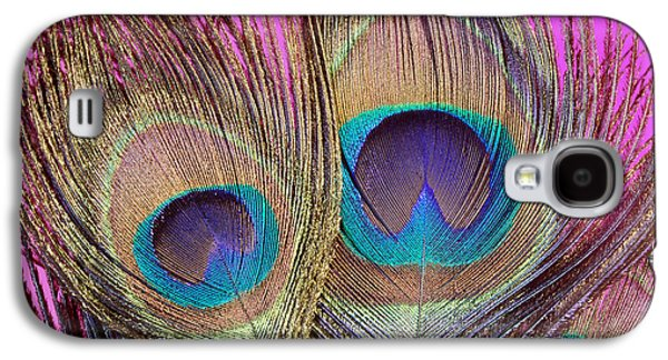 Colorful Abstract Galaxy S4 Cases - Peacock_Eyes-12 Galaxy S4 Case by Mike E Miller
