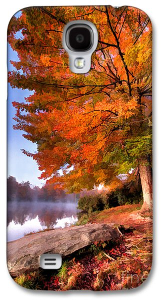 Paint Photograph Galaxy S4 Cases - Peak of Color - Blue Ridge Parkway Price Lake Galaxy S4 Case by Dan Carmichael