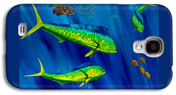 Triggerfish Paintings Galaxy S4 Cases - Peanut Gallery Galaxy S4 Case by Steve Ozment