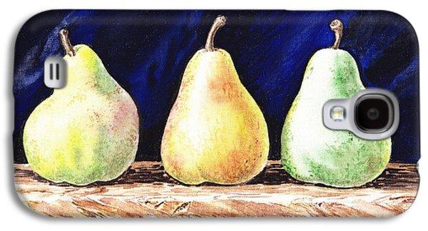 Pears Galaxy S4 Cases - Pear Pear and Pear Galaxy S4 Case by Irina Sztukowski