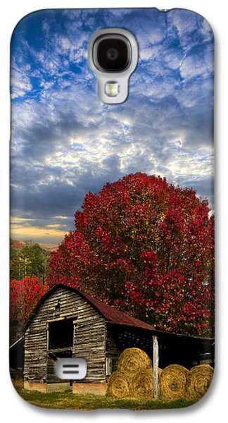 Tennessee Hay Bales Galaxy S4 Cases - Pear Trees on the Farm Galaxy S4 Case by Debra and Dave Vanderlaan