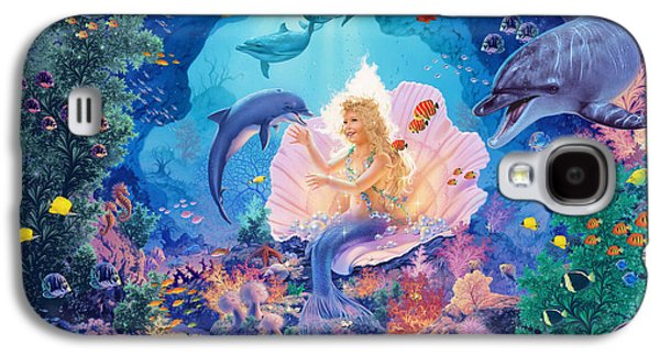 Drawing Galaxy S4 Cases - Pearl Princess Variant1 Galaxy S4 Case by Steve Read