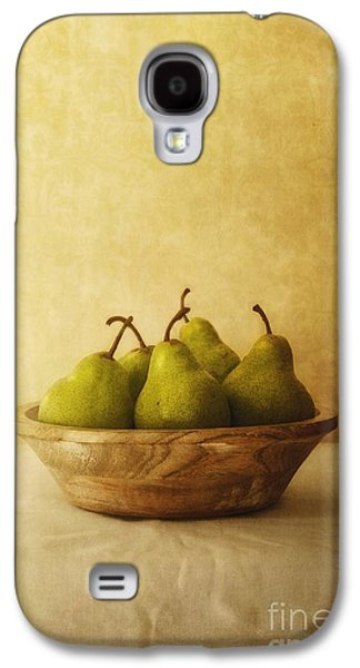 Table Galaxy S4 Cases - Pears In A Wooden Bowl Galaxy S4 Case by Priska Wettstein