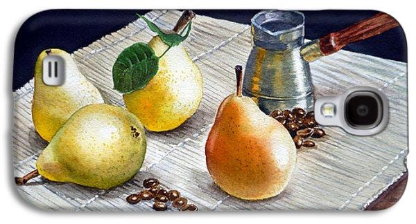 Pears Paintings Galaxy S4 Cases - Pears Galaxy S4 Case by Irina Sztukowski