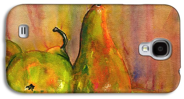 Pears Paintings Galaxy S4 Cases - Pears Still Life Art  Galaxy S4 Case by Blenda Studio