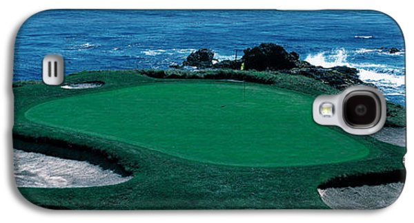 Sports Photographs Galaxy S4 Cases - Pebble Beach Golf Course 8th Green Galaxy S4 Case by Panoramic Images