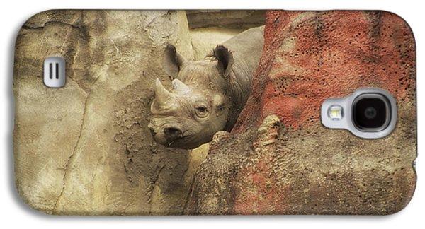 Peek A Boo Rhino Galaxy S4 Case by Thomas Woolworth