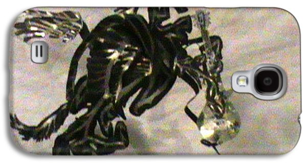 Sun Sculptures Galaxy S4 Cases - Pegasus Guitar and the Sun   Galaxy S4 Case by Benneth Wilson
