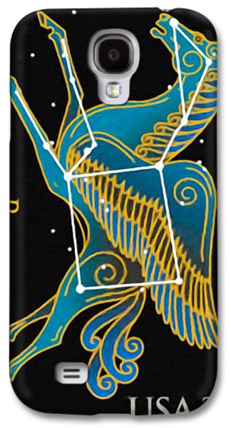 Constellations Paintings Galaxy S4 Cases - Pegasus Galaxy S4 Case by Lanjee Chee