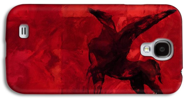Abstract Digital Mixed Media Galaxy S4 Cases - Pegasus Red Galaxy S4 Case by Lutz Baar