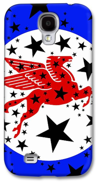 Red White And Blue Mixed Media Galaxy S4 Cases - Pegasus Galaxy S4 Case by Russell Pierce