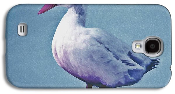 Close Focus Nature Scene Paintings Galaxy S4 Cases - Pekin ducks 2 Galaxy S4 Case by Lanjee Chee