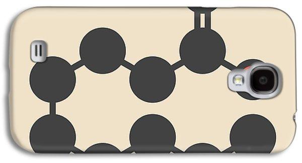 Pelargonic Acid Molecule Galaxy S4 Case by Molekuul