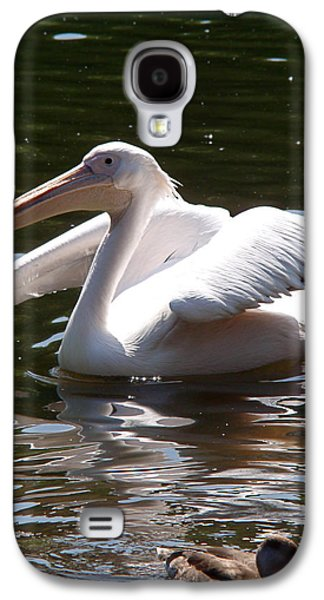 Black White Photographs Galaxy S4 Cases - Pelican and Friend Galaxy S4 Case by Rona Black