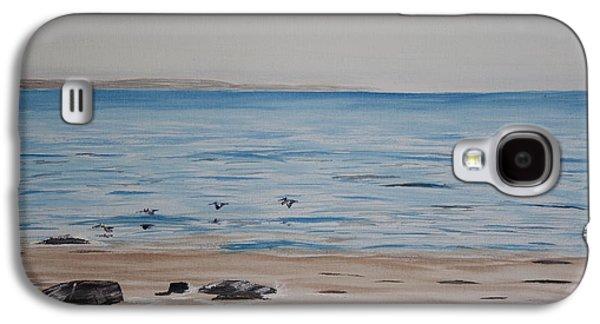 El Capitan Paintings Galaxy S4 Cases - Pelicans at El Capitan Galaxy S4 Case by Ian Donley