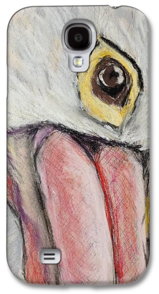 Nature Study Pastels Galaxy S4 Cases - Pelicans Gaze - Study in Pastel Galaxy S4 Case by Cristel Mol-Dellepoort