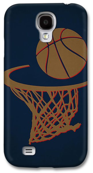 Dunk Galaxy S4 Cases - Pelicans Team Hoop2 Galaxy S4 Case by Joe Hamilton