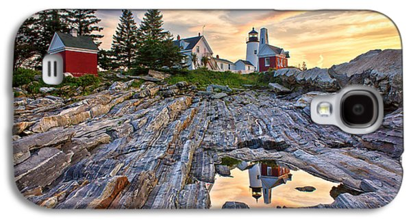 Mid-coast Maine Galaxy S4 Cases - Pemaquid Lighthouse Reflection Galaxy S4 Case by Benjamin Williamson