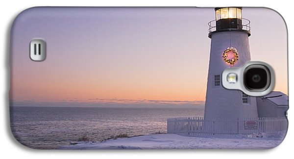 Maine Lighthouses Galaxy S4 Cases - Pemaquid Point Lighthouse and Snow Maine Coast Galaxy S4 Case by Keith Webber Jr