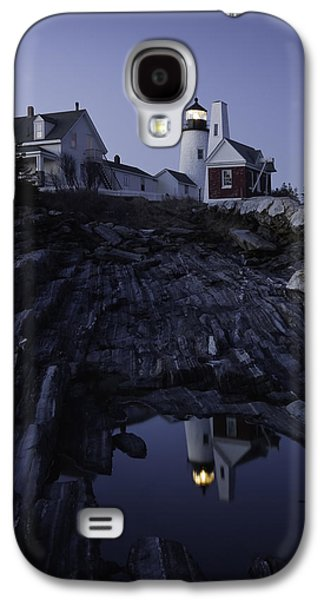 Maine Lighthouses Galaxy S4 Cases - Pemaquid Point Lighthouse At Night in Maine Galaxy S4 Case by Keith Webber Jr