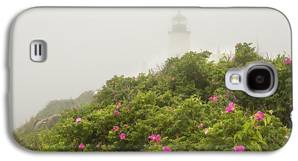 Maine Lighthouses Galaxy S4 Cases - Pemaquid Point Lighthouse in Fog on the Maine Coast Galaxy S4 Case by Keith Webber Jr