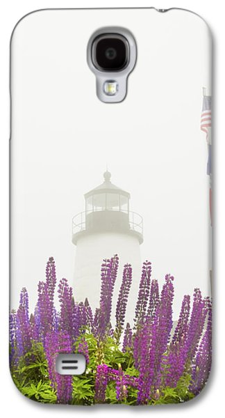 Maine Lighthouses Galaxy S4 Cases - Pemaquid Point Lighthouse Lupine Maine Prints Galaxy S4 Case by Keith Webber Jr