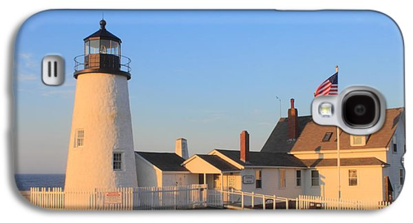 Maine Lighthouses Galaxy S4 Cases - Pemaquid Point Lighthouse Maine Galaxy S4 Case by John Burk