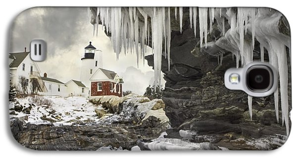 Maine Lighthouses Galaxy S4 Cases - Pemaquid Point Lighthouse on the Maine Coast Galaxy S4 Case by Keith Webber Jr
