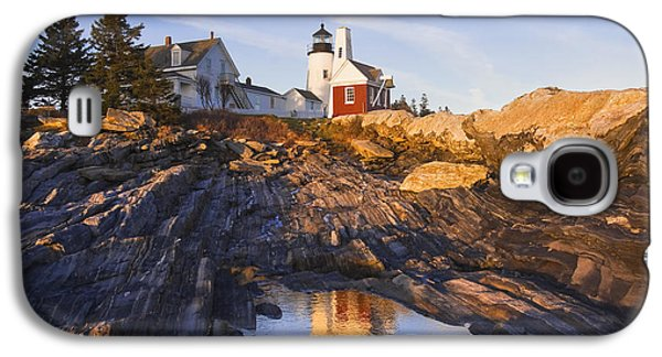 Maine Lighthouses Galaxy S4 Cases - Pemaquid Point Lighthouse Reflection on the Coast of Maine  Galaxy S4 Case by Keith Webber Jr