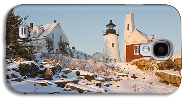 Maine Lighthouses Galaxy S4 Cases - Pemaquid Point Lighthouse Winter in Maine  Galaxy S4 Case by Keith Webber Jr